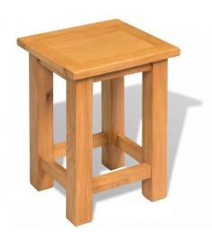 Τραπέζι Βοηθητικό 27 x 24 x 37 εκ. από Μασίφ Ξύλο Δρυός   244207