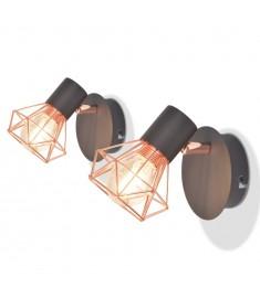 Απλίκες Τοίχου 2 τεμ. με 2 Λαμπτήρες LED Filament 8 W  244393