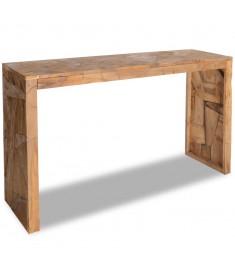 Τραπέζι Κονσόλα «Διαβρωμένο» Στιλ 120 x 35 x 76 εκ. Ξύλο Teak  244519