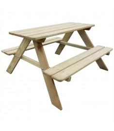 Τραπέζι Πικ-νικ Παιδικό 89 x 89,6 x 50,8 εκ. από Ξύλο Πεύκου  274307