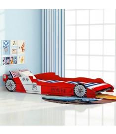 Κρεβάτι Παιδικό Αγωνιστικό Αυτοκίνητο Κόκκινο 90 x 200 εκ.   244464