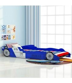 Κρεβάτι Παιδικό Αγωνιστικό Αυτοκίνητο Μπλε 90 x 200 εκ.   244465