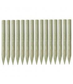 Πάσσαλοι Περίφραξης Μυτεροί 15 τεμ. 4x100 εκ. Εμποτ. Πεύκο FSC   43287