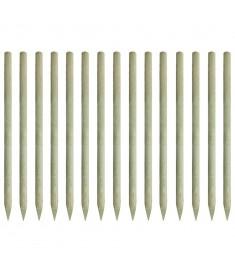 Πάσσαλοι Περίφραξης Μυτεροί 15 τεμ. 4x197 εκ. Εμποτ. Πεύκο FSC   43289