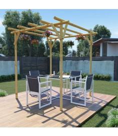 Πέργκολα Κήπου 2 x 2 x 2 μ. από Εμποτισμένο Ξύλο Πεύκου  43297