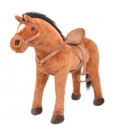 Παιχνίδι Άλογο σε Όρθια Στάση Καφέ Λούτρινο  91309
