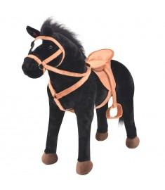 Παιχνίδι Άλογο σε Όρθια Στάση Μαύρο Λούτρινο  91310