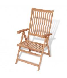 Καρέκλα Κήπου Ανακλινόμενη από Μασίφ Ξύλο Teak  43028
