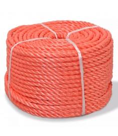 Σχοινί Στριφτό Πορτοκαλί 12 χιλ. 100 μ. από Πολυπροπυλένιο  91302
