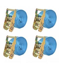 Ιμάντες Πρόσδεσης με Καστάνια 4 τεμ. Μπλε 2 Τόνων 6 μ.x 38χιλ.  142654