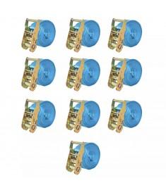 Ιμάντες Πρόσδεσης με Καστάνια 10 τεμ. Μπλε 2 Τόνων 6 μ.x 38 χιλ  142655