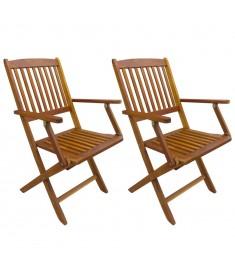 Καρέκλες Κήπου Πτυσσόμενες 2 τεμ. από Μασίφ Ξύλο Ακακίας  43377