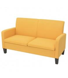 Καναπές Διθέσιος Κίτρινος 135 x 65 x 76 εκ.   244710