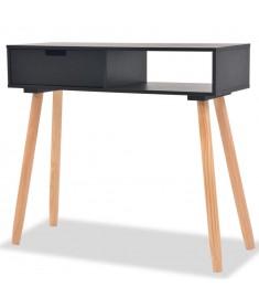 Τραπέζι Κονσόλα Μαύρο 80 x 30 x 72 εκ. από Μασίφ Ξύλο Πεύκου   244738