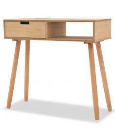Τραπέζι Κονσόλα Καφέ 80 x 30 x 72 εκ. από Μασίφ Ξύλο Πεύκου   244739