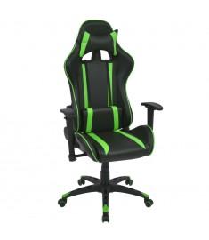 Καρέκλα Γραφείου Racing Ανακλινόμενη Πράσινη Συνθετικό Δέρμα  20161