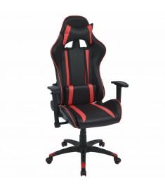 Καρέκλα Γραφείου Racing Ανακλινόμενη Κόκκινη Συνθετικό Δέρμα  20162