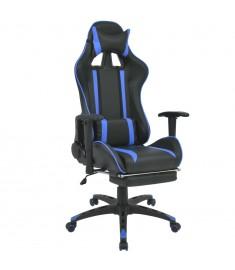 Καρέκλα Γραφείου Racing Ανακλινόμενη με Υποπόδιο Μπλε  20166