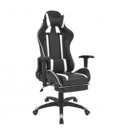 Καρέκλα Γραφείου Racing Ανακλινόμενη με Υποπόδιο Λευκή  20169