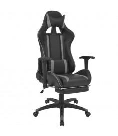 Καρέκλα Γραφείου Racing Ανακλινόμενη με Υποπόδιο Γκρι  20170