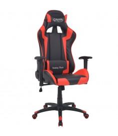 Καρέκλα Γραφείου Racing Ανακλινόμενη Κόκκινη Συνθετικό Δέρμα  20172