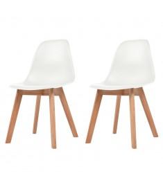 Καρέκλες Τραπεζαρίας 2 τεμ. Λευκές  244771