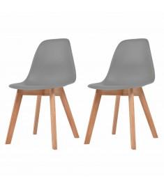 Καρέκλες Τραπεζαρίας 2 τεμ. Γκρι  244774