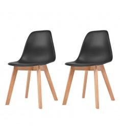 Καρέκλες Τραπεζαρίας 2 τεμ. Μαύρες  244777