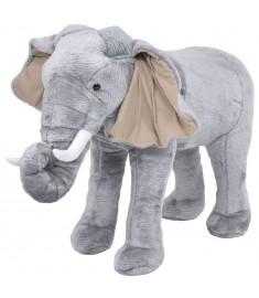 Παιχνίδι Ελέφαντας σε Όρθια Στάση Γκρι XXL Λούτρινος  91334