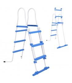 Σκάλα Ασφαλείας για Υπέργεια Πισίνα με 3 Σκαλοπάτια 107 εκ.  90984