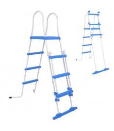 Σκάλα Ασφαλείας για Υπέργεια Πισίνα με 3 Σκαλοπάτια 122 εκ.   90985