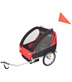 Τρέιλερ Ποδηλάτου Παιδιών Κόκκινο / Μαύρο 30 κ.   91371
