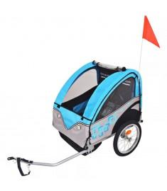 Τρέιλερ Ποδηλάτου Παιδιών Γκρι / Μπλε 30 κ.   91373