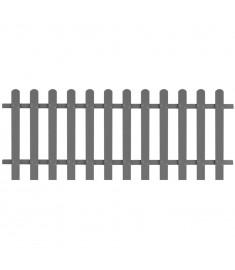 Φράχτης Κήπου Γκρι 200 x 80 εκ. από WPC  42819
