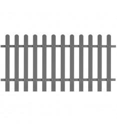 Φράχτης Κήπου Γκρι 200 x 100 εκ. από WPC  42820