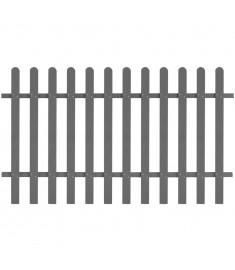 Φράχτης Κήπου Γκρι 200 x 120 εκ. από WPC  42821