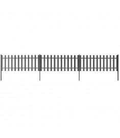 Φράχτης με Στύλους 3 τεμ. Γκρι Μήκος 6 μ. Ύψος 60 εκ. από WPC  42826