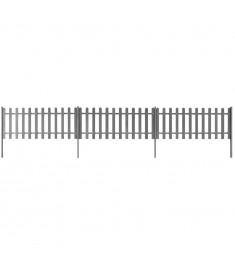Φράχτης με Στύλους 3 τεμ. Γκρι Μήκος 6 μ. Ύψος 80 εκ. από WPC  42827