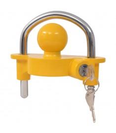 Κλειδαριά Τρέιλερ Κίτρινη Ατσάλι/Κράμα Αλουμινίου με 2 Κλειδιά  142675