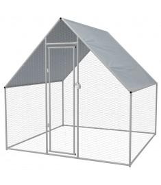 Κοτέτσι - Κλουβί Εξωτ. Χώρου 2x2x2 μ. από Γαλβανισμένο Χάλυβα   170494