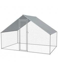 Κοτέτσι - Κλουβί Εξωτ. Χώρου 3x2x2 μ. από Γαλβανισμένο Χάλυβα  170495