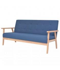 Καναπές Τριθέσιος Μπλε Υφασμάτινος   244656