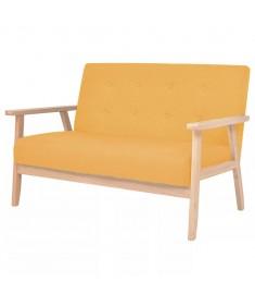 Καναπές Διθέσιος Κίτρινος Υφασμάτινος   244658