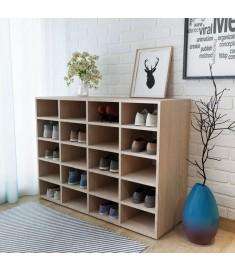 Ραφιέρα Παπουτσιών Χρώμα Δρυός 92x33x67,5 εκ. από Μοριοσανίδα  244885