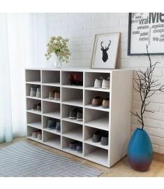 Ραφιέρα Παπουτσιών Λευκή 92 x 33 x 67,5 εκ. από Μοριοσανίδα  244886