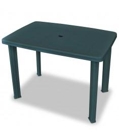 Τραπέζι Κήπου Πράσινο 101 x 68 x 72 εκ. από Πλαστικό  43593