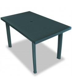 Τραπέζι Κήπου Πράσινο 126 x 76 x 72 εκ. από Πλαστικό  43598