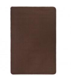 Χαλί Σκούρο Καφέ 80 x 160 εκ. από Γιούτα με Υπόστρωμα από Λάτεξ