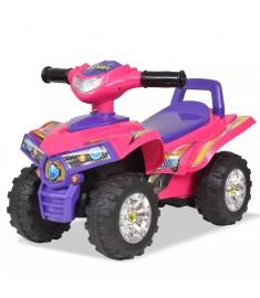 Γουρούνα ATV Παιδική Ηλεκτροκίνητη με Ήχο και Φως Ροζ / Μοβ  10141