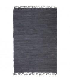 Χαλί Chindi Χειροποίητο Ανθρακί 80 x 160 εκ. Βαμβακερό   245196